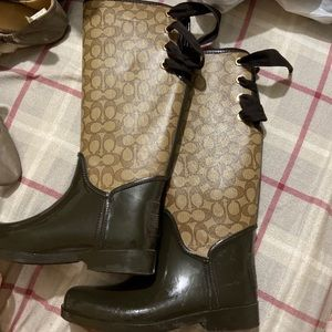 Coach rain boots !!! Will accept offers